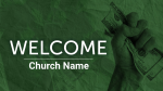 Green Greed welcome PowerPoint image