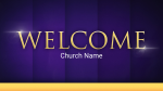 Purple Curtain welcome PowerPoint image