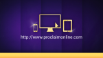 Purple Curtain website PowerPoint image