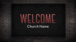 Brick Wall welcome PowerPoint image