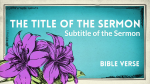 Easter Lilies sermon title PowerPoint image