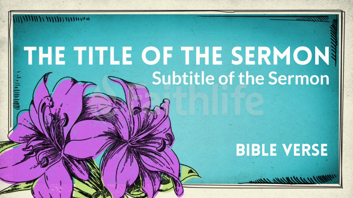 Easter Lilies sermon title smart media preview