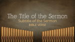 Hymns sermon title PowerPoint image
