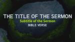 Mossy Rock sermon title PowerPoint image