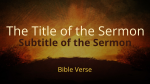 Painted Cross sermon title PowerPoint image