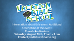 Vacation Bible Study announcement 2 PowerPoint image
