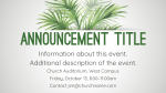 Palm Sunday content a PowerPoint Photoshop image