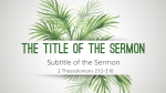 Palm Sunday  PowerPoint Photoshop image 8