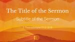 Easter Sunday sermon title 16x9 PowerPoint Photoshop image