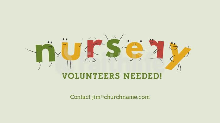 Nursery Volunteers Needed Comic Letters large preview