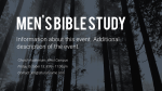 Forest Men's Bible Study  PowerPoint Photoshop image 2