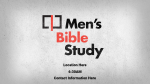 Illustrated Men's Bible Study  PowerPoint Photoshop image 1