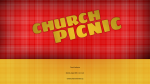 Plaid church picnic 16x9 PowerPoint image