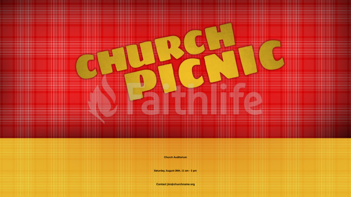Plaid church picnic 16x9 smart media preview