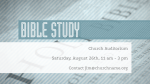 Bible Study  PowerPoint image 1