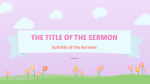 Mother's Day Pink sermon title 16x9 PowerPoint image