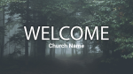 Forest welcome 16x9 PowerPoint image