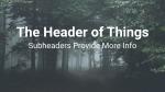 Forest header subheader 16x9 PowerPoint image