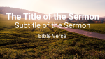 Country Road sermon title 16x9 PowerPoint image