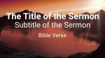 Lake at Sunset sermon title 16x9 PowerPoint image
