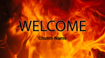 Fire welcome 16x9 PowerPoint image