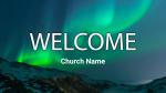 Aurora Borealis Over Mountains  PowerPoint image 1