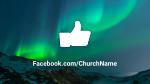 Aurora Borealis Over Mountains  PowerPoint image 7