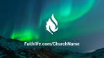 Aurora Borealis Over Mountains  PowerPoint image 8