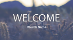 Cactus welcome 16x9 PowerPoint image