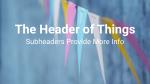 Banner header subheader 16x9 PowerPoint image