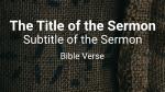Burlap sermon title 16x9 PowerPoint image