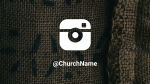 Burlap instagram 16x9 PowerPoint image