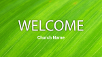 Leaf welcome 16x9 PowerPoint image