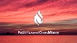 Sunset Over Lake faithlife 16x9 PowerPoint image