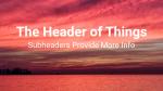 Sunset Over Lake header subheader 16x9 PowerPoint image