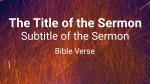 Sparks sermon title 16x9 PowerPoint image