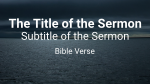 Stormy Beach sermon title 16x9 PowerPoint image