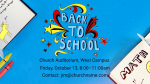 Back to School announcement 16x9 PowerPoint Photoshop image