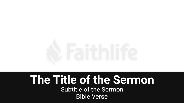 Black Lower Thirds sermon title 16x9 smart media preview