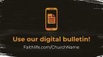 The Gospel of Mark bulletin 16x9 PowerPoint Photoshop image
