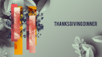 Thanksgiving Dinner Leaves  PowerPoint Photoshop image 1