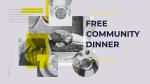 Free Community Dinner  PowerPoint Photoshop image 1