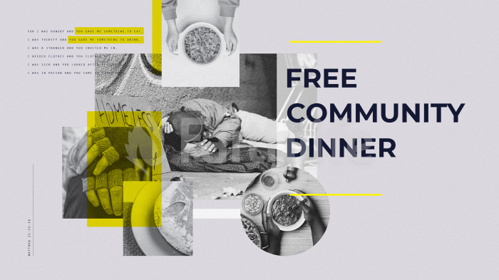 Free Community Dinner large preview