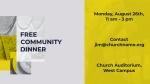 Free Community Dinner  PowerPoint Photoshop image 3