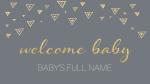 Birth Announcement  PowerPoint Photoshop image 1