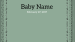Birth Announcement  PowerPoint Photoshop image 4