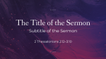 Majesty sermon title 16x9 PowerPoint Photoshop image