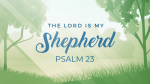 The Lord is my Shepherd  PowerPoint Photoshop image 1