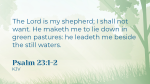 The Lord is my Shepherd  PowerPoint Photoshop image 2