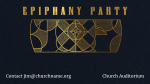 Epiphany Party Gold  PowerPoint Photoshop image 4